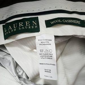 Vintage cashmere wool blend pants